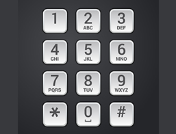 Black and White keypad