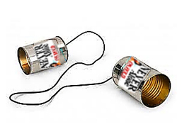 Never On Hold Tin Cans